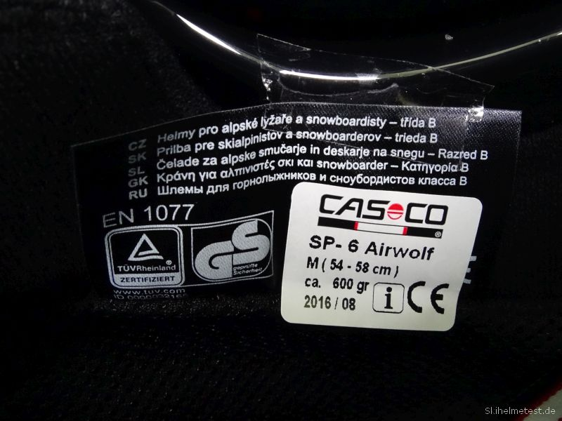 Casco SP-6 Airwolf Prüfsiegel